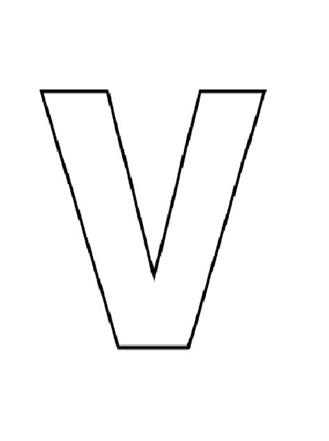 uppercase letter v coloring pages worksheets printables