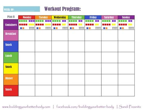 plan b 21 day fix meal planning template 1500 1799 calorie
