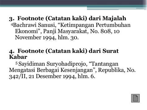 penulisan daftar pustaka dan catatan kaki penulisan daftar pustaka dan catatan kaki
