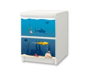 aufkleber für ikea malm kommode underwater world stickers for ikea malm 2 drawers stikkipix