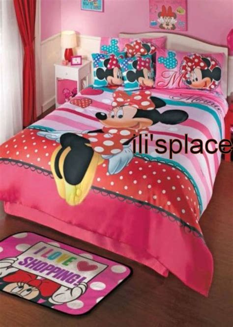 minnie mouse comforter set full size twin full size girls disney minnie mouse love comforter