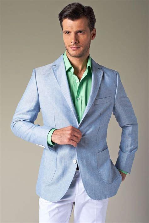 light blue linen jacket bespoke custom light blue linen s blazer jacket