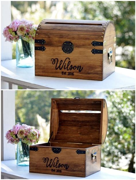 Wedding Card Box Ideas Personalized by Personalized Wedding Card Box Wood Wedding Card Box With Slot 5th Anniversary Gift Wedding