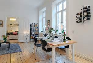 Swedish Home Interiors Swedish 58 Square Meter Apartment Interior Design With Open Floor Plan Digsdigs