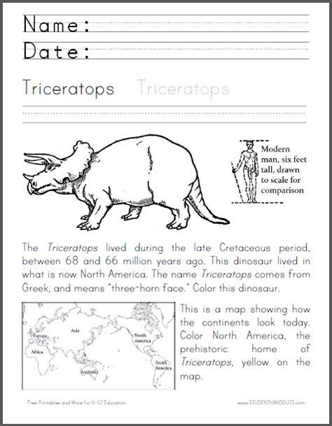 Dinosaur Worksheets by Free Science Worksheet Scroll To Print Lower