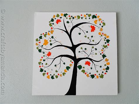 crafting projects for adults shamrock crafts shamrock tree on canvas