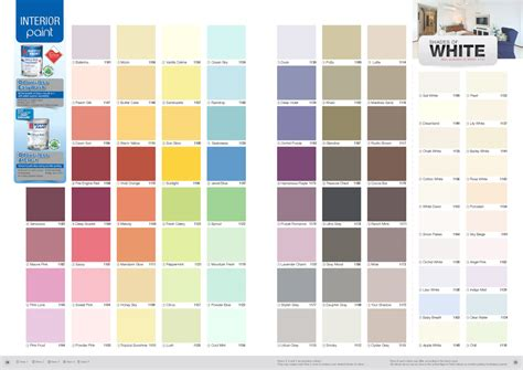 interior wall painting paint colour charts and colour chart