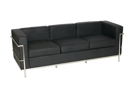 office furniture leather sofa le corbusier style three seater leather sofa office