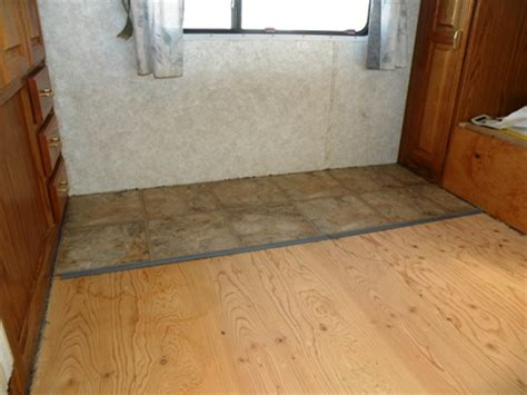 Replacing Vinyl Flooring by An Rv Flooring Replacement Using By Traffic Master