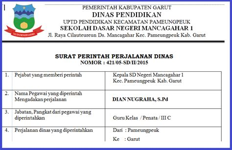 contoh surat perintah perjalanan dinas sppd ardiyani
