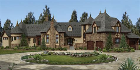 luxurious european home exterior  vaulted ceilings  exterior ideas