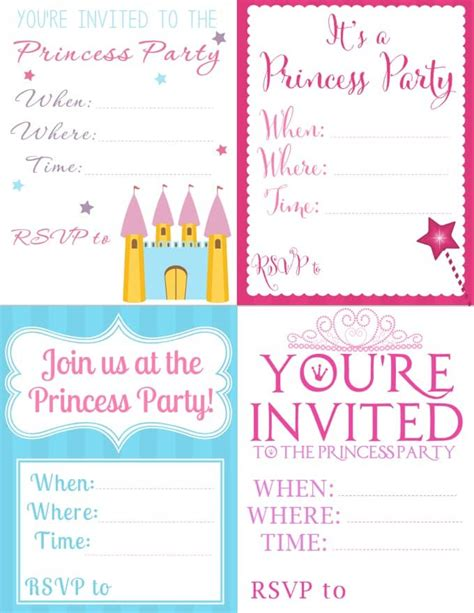 princess invitations printable free printable princess invitations seriously adorable