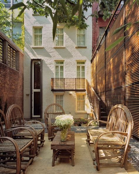 backyard nyc greenwich village townhouse modern patio new york