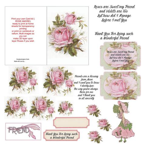 Decoupage Card Kits - items similar to card kit or decoupage
