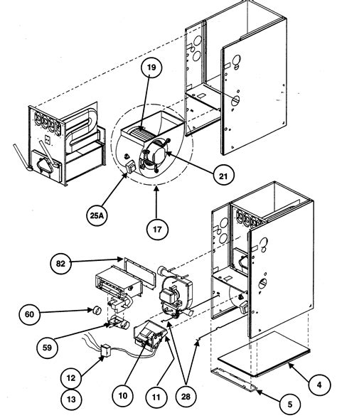 carrier furnace parts diagram carrier furnace parts model 58mxa100f14120 sears