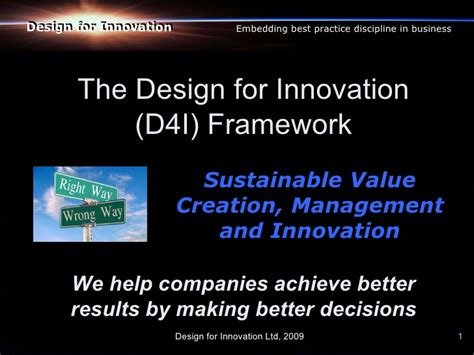 Mba Programs For Design And Innovation by Design For Innovation D4i Framework For Strategic