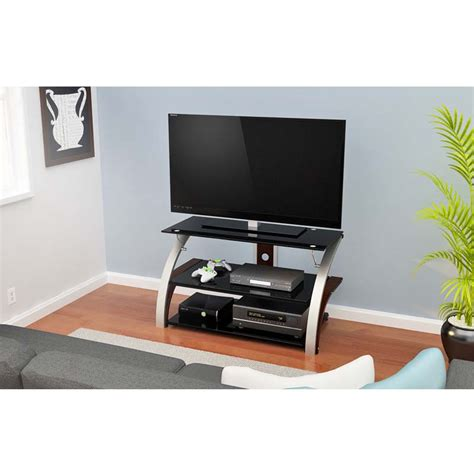 40 inch tv cabinet z line elecktra 40 inch tv stand with black glass chrome