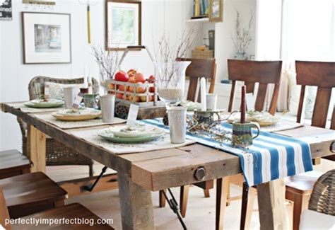 How To Build A Farmhouse Dining Room Table by Rustic Wood Kitchen Table Plans Woodideas