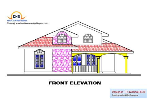 single floor house plan and elevation 1495 sq ft home
