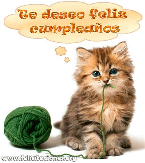 imagenes feliz cumpleaños gatitos felicitacion de cumplea 241 os personalizada