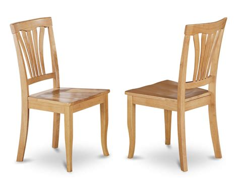 Oak Wood Dining Chairs Set Of 2 Avon Dinette Kitchen Dining Chairs With Plain Wood Seat In Light Oak Ebay
