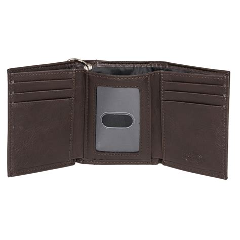 dickies leather logo trifold wallet w chain