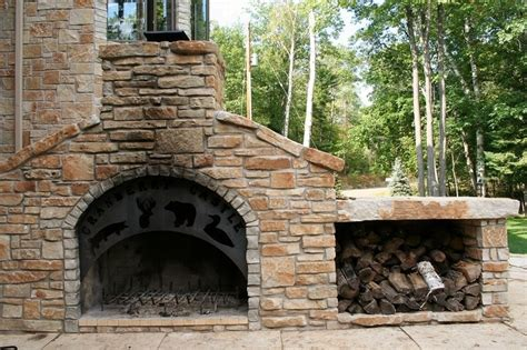 backyard fireplace diy outdoor fireplace diy home pinterest