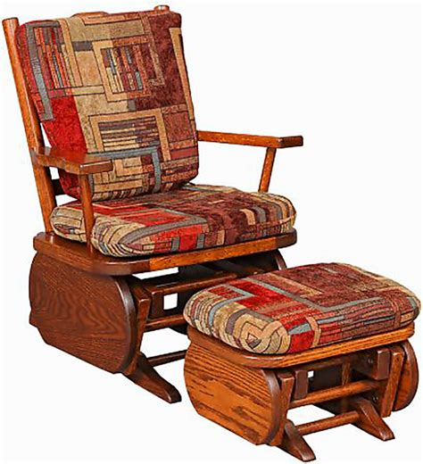 oak glider rocker with ottoman amish child glider rocker oak and cherry hardwood gliders