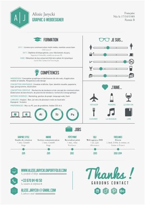 Excellent Resume Exle by 25 Best Ideas About Cv Infographic On