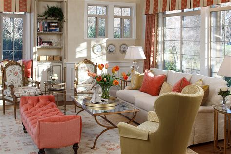 Elegant coral color pillows vogue sacramento traditional living room decorating ideas with built