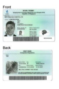 Work Permit After Mba In Singapore by New Work Pass Card And Sgworkpass Mobile App Immigration