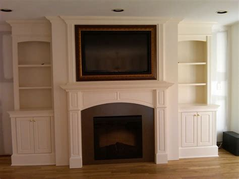 Fireplace Mantels Tv Above by Fireplace With Artscreen Traditional Family Room New