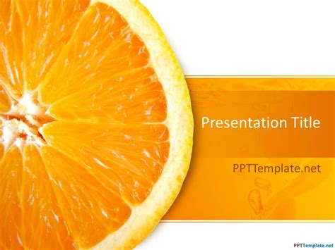 Free Orange Ppt Template Orange Powerpoint Template