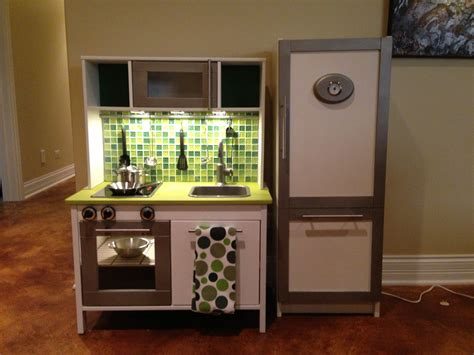 ikea play kitchen ikea duktig mini kitchen makeover added paint tile