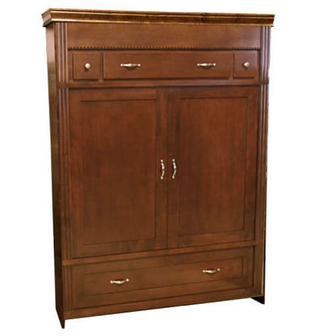 Murphy Bed Armoire by Vertical Wood Armoire Murphy Bed Discounted
