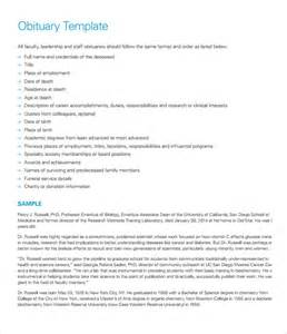 obituary templates obituary template 11 documents in pdf word psd