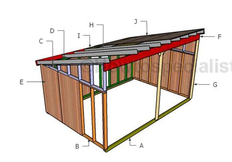 Diy Run In Shed 12x18 run in shed plans howtospecialist how to build
