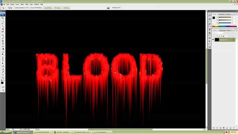 tutorial photoshop cs3 font photoshop cs3 simple and realistic blood text effect