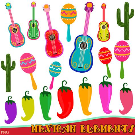 festa clipart mexican clipart guitar clipart clipart instant