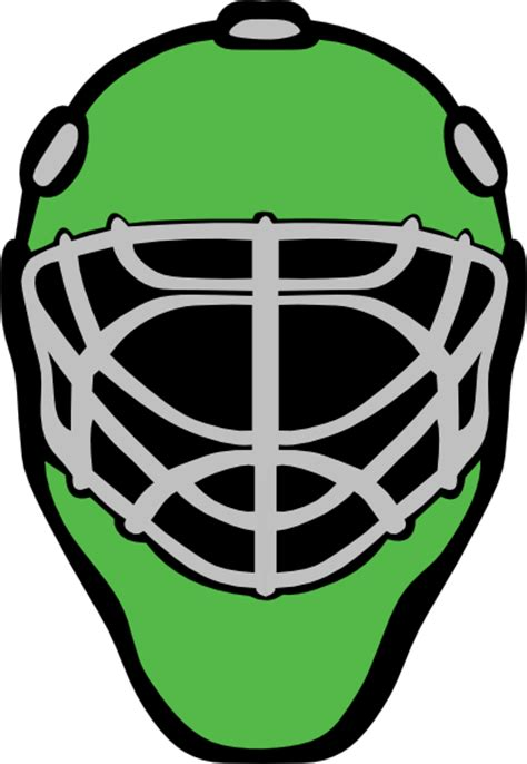 goalie mask painting template goalie mask template clipart best