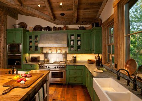rustic green kitchen cabinets 21 green kitchen designs decorating ideas design