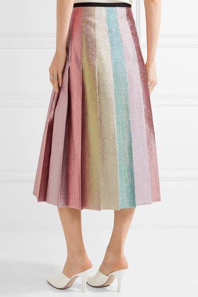 gucci pleated lam 233 midi skirt modesens