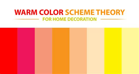 what are the warm colors warm color scheme theory for home decoration roy home design