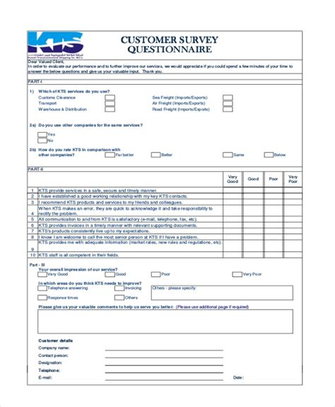 Sle Customer Satisfaction Survey Forms 10 Free Documents In Pdf Word Company Satisfaction Survey Template