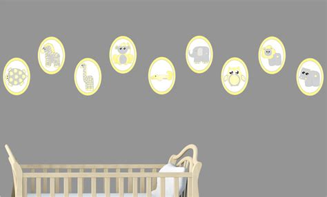 Yellow Baby Safari Animal Wall Decals Stickers Safari Safari Nursery Wall Decals