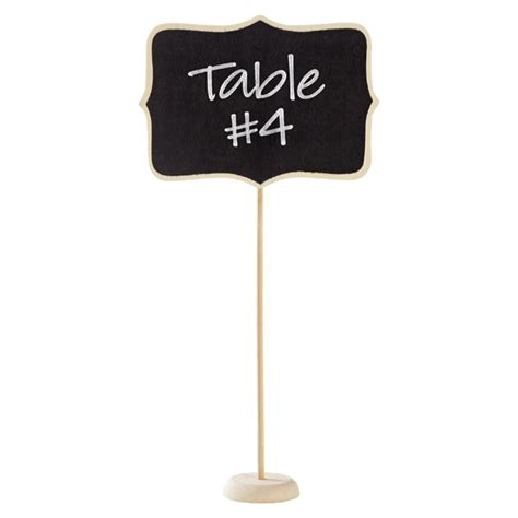 chalkboard holder chalkboard table number holder the container store