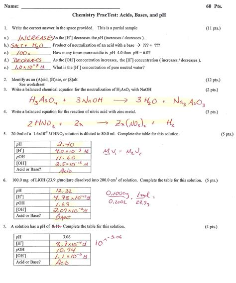 Acids And Bases Worksheet 1 Answers by Stoichiometry Problems With Answers Memes