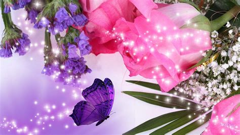 Pink Rose Flower Wallpapers Wallpaper Cave Purple Flower Backgrounds Graphicpanic