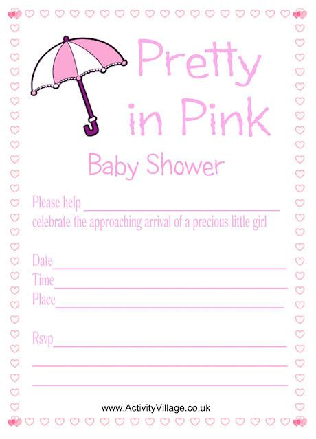 Pretty In Pink Baby Shower Invitations by Pretty In Pink Baby Shower Invitation