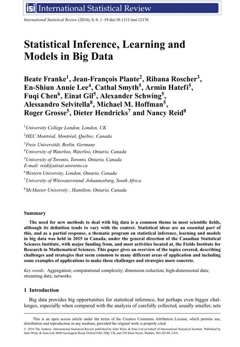 big data research papers pdf statistical inference learning and pdf